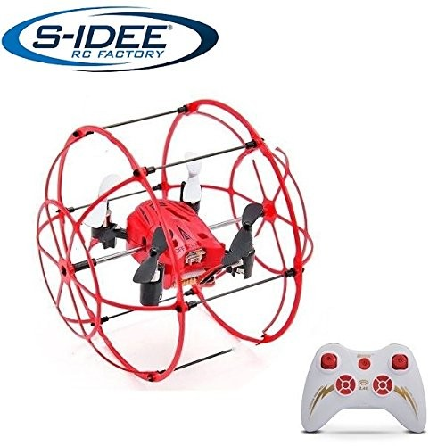 s-idee® 01653 S66 Quadrocopter im Käfig Flipfunktion u.v.m. Drohne 4 Kanal!